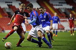 Bristol City U18s Joe Morrell in action during the first half of the match - Photo mandatory by-line: Rogan Thomson/JMP - Tel: Mobile: 07966 386802 - 04/12/2012 - SPORT - FOOTBALL - Ashton Gate Stadium - Bristol. Bristol City U18 v Ipswich Town U18 - FA Youth Cup Third Round Proper.