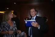 Mrs. Stephen Norris and Lord Ashcroft. 'Dirty politics, Dirty times: My fight with Wapping and New Labour' by Michael Ashcroft. Book launch party in aid of Crimestoppers. Riverbank Plaza Hotel. London SE1.      October 10 2005. ONE TIME USE ONLY - DO NOT ARCHIVE © Copyright Photograph by Dafydd Jones 66 Stockwell Park Rd. London SW9 0DA Tel 020 7733 0108 www.dafjones.com
