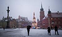 15.01.2014 Warszawa N/z swiateczna choinka na Placu Zamkowym fot Michal Kosc / AGENCJA WSCHOD