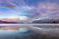 Mystical cold morning on Whitefish Lake in Whitefish, Montana, USA