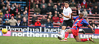 Photo: Alex Pelaez.<br /> Crystal Palace v Luton Town. Coca Cola Championship. 24/02/2007.<br /> Morrison of Palace scores his second goal of the match