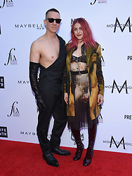 Tessa Brooks at The Daily Front Row Fashion Los Angeles Awards 2018 held at the Beverly Hills Hotel on April 8, 2018 in Beverly Hills, Ca. 08 Apr 2018 Pictured: Jeremy Scott and Frances Bean Cobain. Photo credit: MEGA TheMegaAgency.com +1 888 505 6342