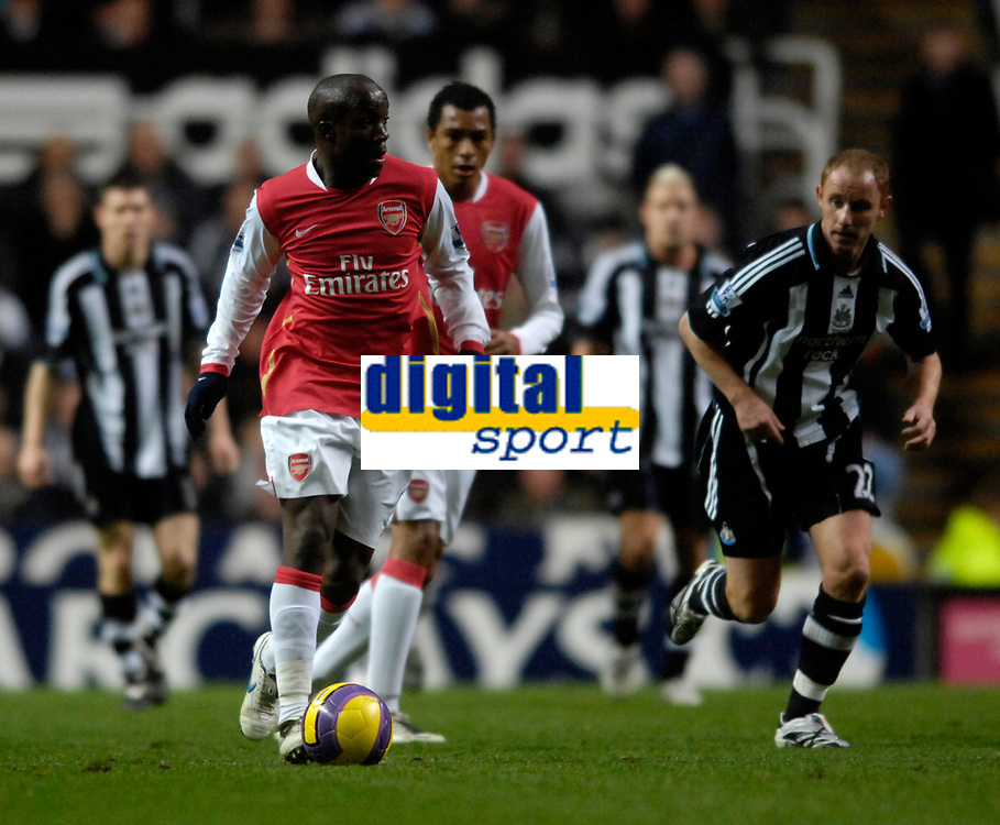 Photo: Jed Wee/Sportsbeat Images.<br /> Newcastle United v Arsenal. The FA Barclays Premiership. 05/12/2007.<br /> <br /> Arsenal's Lassana Diarra.