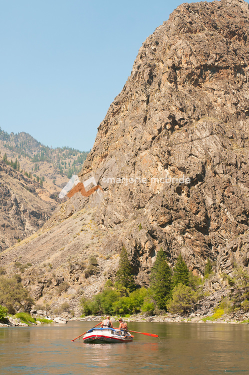 The Impassible Canyon on the Middle Fork of the Salmon River during six day rafting vacation, Idaho.