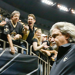 Sep 22, 2013; New Orleans, LA, USA; New Orleans Saints defensive coordinator Rob Ryan runs off the field following a win over the Arizona Cardinals during the second half of a game at Mercedes-Benz Superdome. The Saints defeated the Cardinals 31-7. Mandatory Credit: Derick E. Hingle-USA TODAY Sports