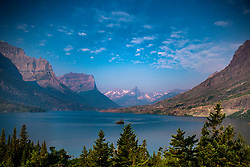 St. Mary Lake from Wild Goose Island Lookout, Glacier National Park, Washington, US