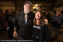 Willie at Bill Dodge's Bling's Cycle party during Daytona Beach Bike Week 2015. FL, USA. Wednesday, March 11, 2015.  Photography ©2015 Michael Lichter.