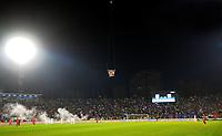 Fotball<br /> EM-kvalifisering<br /> Serbia v Albania<br /> 14.10.2014<br /> Foto: imago/Digitalsport<br /> NORWAY ONLY<br /> <br /> Drone with provocative flag of big Albania above FK Partizan stadium