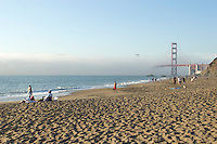 Baker Beach on a weekend afternoon. Presidio of San Francisco. Golden Gate National Recreation Area. San Francisco,  CA