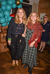 Laura Lopes daughter of HRH The Duchess of Cornwall and her cousin Ayesha Shand at the launch of the Fortnum & Mason Christmas & Other Winter Feasts Cook Book by Tom Parker Bowles held at Fortnum & Mason, 181 Piccadilly, London, England. 17 October 2018.