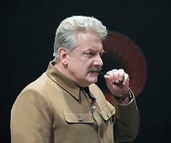Collaborators<br /> by John Hodge<br /> at The Cottesloe Theatre, Southbank, London, Great Britain <br /> press photocall<br /> 31st October 2011 <br /> <br /> Simon Russell Beale (as Joseph Stalin)<br /> <br /> directed by Nicholas Hytner)<br /> <br /> Photograph by Elliott Franks