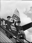 Army, Col. Harry W. Byrne and Comdt. E. Doyle, 33rd Batt. leaving D.A.P. for the Congo.  This pair of officers have been appointed to the staff of General Van Horn, Commander of the United Nations force in the Congo..10.08.1960