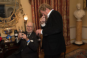 ED VICTOR; SEBASTIAN FAULKS, Everyman 25th Anniversary party, Spencer House. St. James' Place. London. SW1. 26 October 2016