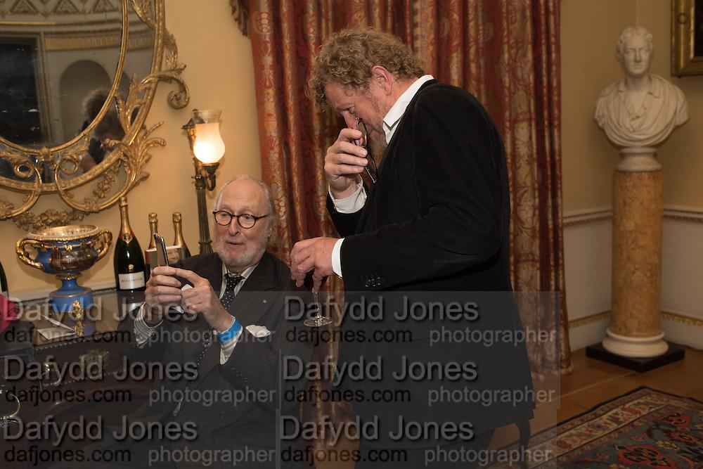 ED VICTOR; SEBASTIAN FAULKS, Everyman 25th Anniversary party, Spencer House. St. James' Place. London. SW1. 26 October 2016