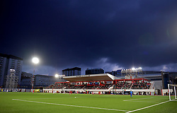 General view of the action during the UEFA Euro 2020 Qualifying, Group D match at the Victoria Stadium, Gibraltar.