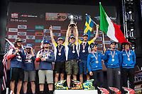 Junior trophy  of the FIM international six days of enduro 2016 in Navarra, Spain. October 11, 2016. (ALTERPHOTOS/Rodrigo Jimenez)