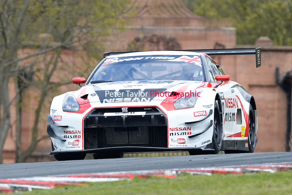 #80 Chris Hoy/Alex Buncombe - Nissan GT Academy Team RJN, Nissan GT-R Nismo GT3 during second practice for the Avon Tyers British GT Championship at Oulton Park, Little Budworth, Cheshire, United Kingdom. April 19 2014. World Copyright Peter Taylor/PSP. Copy of publication required for printed pictures.  Every used picture is fee-liable. http://archive.petertaylor-photographic.co.uk