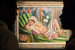 © Licensed to London News Pictures. 20/02/2018. London, UK. A Painting titled Odalisque couch aux magnolias by artist Henri Matisse is on show as part of the collection of Peggy and David Rockefeller at the Christies art sale. Photo credit: Ray Tang/LNP