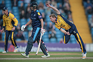 Paul Collingwood (Durham CCC) bowling at Jonny Bairstow (Yorkshire CCC) during the Royal London 1 Day Cup match between Yorkshire County Cricket Club and Durham County Cricket Club at Headingley Stadium, Headingley, United Kingdom on 3 May 2017. Photo by Mark P Doherty.