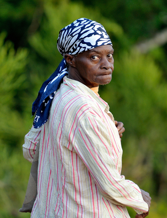A woman in the Haitian village of Mizak.