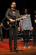 Guus Meeuwis lanceert nieuwe War Child schoolmusical in Carre Amsterdam.<br /> <br /> Op de foto: