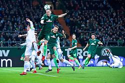 11.02.2018, Weserstadion, Bremen, GER, 1. FBL, SV Werder Bremen vs VfL Wolfsburg, 22. Runde, im Bild Ludwig Augustinsson (SV Werder Bremen #5) trifft zum 1:0 // during the German Bundesliga 22th round match between SV Werder Bremen vs VfL Wolfsburg at the Weserstadion in Bremen, Germany on 2018/02/11. EXPA Pictures © 2018, PhotoCredit: EXPA/ Andreas Gumz<br /> <br /> *****ATTENTION - OUT of GER*****