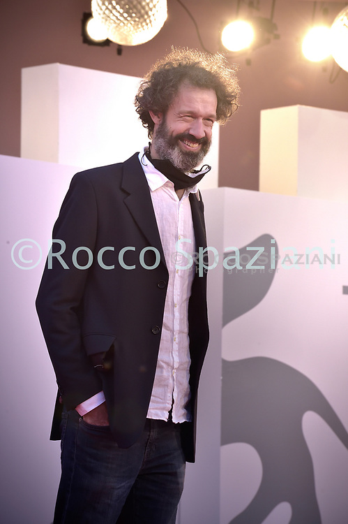 """VENICE, ITALY - SEPTEMBER 10: guest walks the red carpet ahead of the movie """"Nuevo Orden"""" (New Order) at the 77th Venice Film Festival on September 10, 2020 in Venice, Italy.<br /> (Photo by Rocco Spaziani)"""