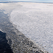 Shore ice along the shores of Hudson Bay in Mid November.