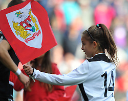 Flag-bearer from Portishead Town FC at Ashton Gate Stadium for Bristol City v Nottingham Forest - Mandatory by-line: Paul Knight/JMP - 01/10/2016 - FOOTBALL - Ashton Gate Stadium - Bristol, England - Bristol City v Nottingham Forest - Sky Bet Championship