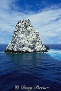 Diamond Rock is a pinnacle that rises from 60 feet below the surface to 80 feet above it, off Saba Island, Netherlands Antilles ( Eastern Caribbean Sea )