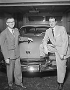 """Ackroyd 03408-2. """"Kaiser Frazer Corp. Tonkin Motor Co. February 6, 1952"""", """"Mr. Tonkin & son Marvin"""" (4x5"""")"""