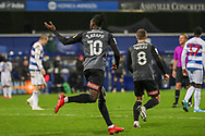 GOAL 3-2 Rotherham United attacker Freddie Ladapo (10) during the EFL Sky Bet Championship match between Queens Park Rangers and Rotherham United at the Kiyan Prince Foundation Stadium, London, England on 24 November 2020.