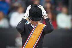 Nekeman Denise, (NED)<br /> Young Rider Kür Final<br /> Dutch Championship Dressage - Ermelo 2015<br /> © Hippo Foto - Dirk Caremans<br /> 19/07/15