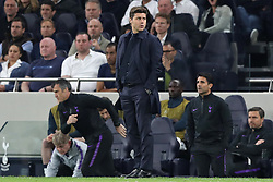 April 30, 2019 - London, England, United Kingdom - Tottenham Manager Mauricio Pochettino eyes up his opposite manager during the UEFA Champions League match between Tottenham Hotspur and Ajax Amsterdam at White Hart Lane, London on Tuesday 30th April 2019. (Credit Image: © Mi News/NurPhoto via ZUMA Press)