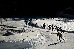 February 2, 2018 - Goms, SWITZERLAND - 180202 Athletes compete in the men's 15/15 km skiathlon during the FIS U23 Cross-Country World Ski Championships on February 2, 2018 in Obergoms..Photo: Vegard Wivestad GrÂ¿tt / BILDBYRN / kod VG / 170096 (Credit Image: © Vegard Wivestad Gr¯Tt/Bildbyran via ZUMA Press)