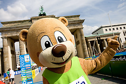 Official mascot Berlino after  the men's 42km Marathon Race during the 2009 IAAF Athletics World Championships on August 22, 2009 in Berlin, Germany. (Photo by Vid Ponikvar / Sportida)