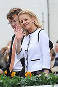 Koninginnedag 2008 / Queensday 2008. <br /> <br /> Koningin Beatrix viert Koninginnedag dit jaar in Friesland. De vorstin en haar familie bezochten op 30 april Makkum en Franeker.<br /> <br /> Queen Beatrix celebrates Queensday this year in Friesland (the Nothren provice in Holland). The Queen and its family visited Makkum and Franeker on 30 April.<br /> <br /> Op de foto/ On the Photo: Princes Mabel and Prince Friso / Prinses Mabel en Prins Friso