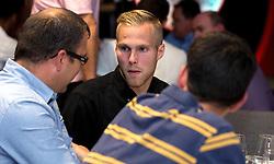 Gustav Engvall of Bristol City mingles with guests during the Lansdown Club event - Mandatory by-line: Robbie Stephenson/JMP - 06/09/2016 - GENERAL SPORT - Ashton Gate - Bristol, England - Lansdown Club -