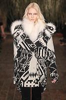 Melissa Tammerijn walks down runway for F2012 Altuzarra's collection in Mercedes Benz fashion week in New York on Feb 10, 2012 NYC's