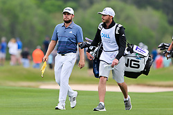 March 29, 2019 - Austin, Texas, United States - Tyrell Hatton (L) and his caddie Hugo Dobson walk the 16th fairway during the third round of the 2019 WGC-Dell Technologies Match Play at Austin Country Club. (Credit Image: © Debby Wong/ZUMA Wire)