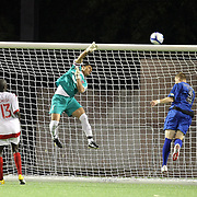 Orlando City Lions Goalkeeper Miguel Gallardo (1) makes a save during a United Soccer League Pro soccer match between the Pittsburgh Riverhounds and the Orlando City Lions at the Florida Citrus Bowl on May 14, 2011 in Orlando, Florida. Orlando won the game 1-0. (AP Photo/Alex Menendez)