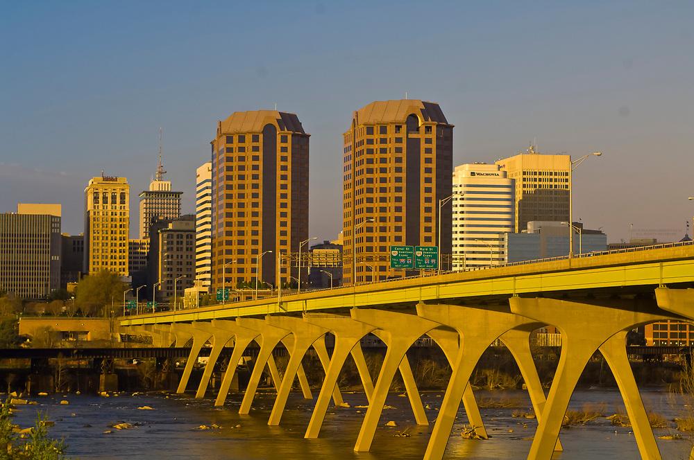 Skyline of Richmond, Virginia seen from across the James River