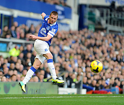 Everton's James McCarthy - Photo mandatory by-line: Dougie Allward/JMP - Tel: Mobile: 07966 386802 23/11/2013 - SPORT - Football - Liverpool - Merseyside derby - Goodison Park - Everton v Liverpool - Barclays Premier League