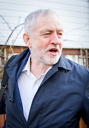 © Licensed to London News Pictures. 06/03/2017. London, UK. Leader of the Labour Party Jeremy Corbyn leaves his home in North London this morning. Following Chancellor of the Exchequer Philip Hammond's decision yesterday not to release his tax return, Corbyn chose to release his. However, there has been controversy over Corbyn's tax appearing not to show his income for the role of Leader of the Labour Party. Photo credit : Tom Nicholson/LNP