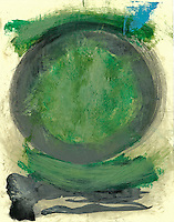 Painted circle, symbol of wholeness.<br /> :::