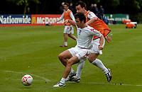 Photo: Richard Lane.<br />England Training Session. 22/05/2006.<br />Joe Cole (L) battles with Chelsea teammate John Terry.