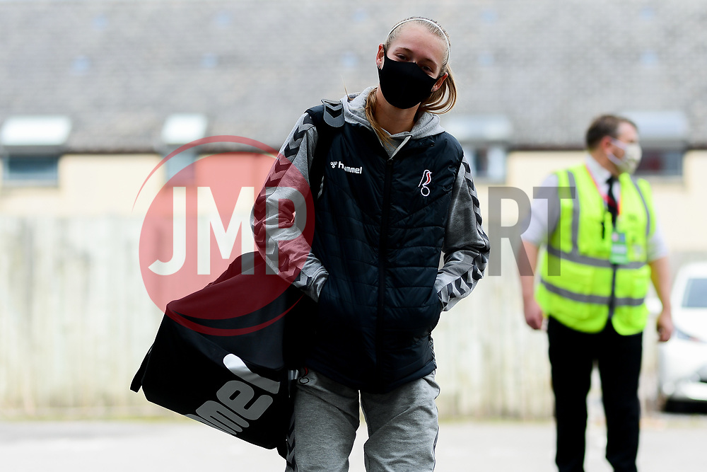 Flo Allen of Bristol City Women arrives at Twerton Park prior to kick off  - Mandatory by-line: Ryan Hiscott/JMP - 06/09/2020 - FOOTBALL - Twerton Park - Bath, England - Bristol City Women v Everton Ladies - FA Women's Super League