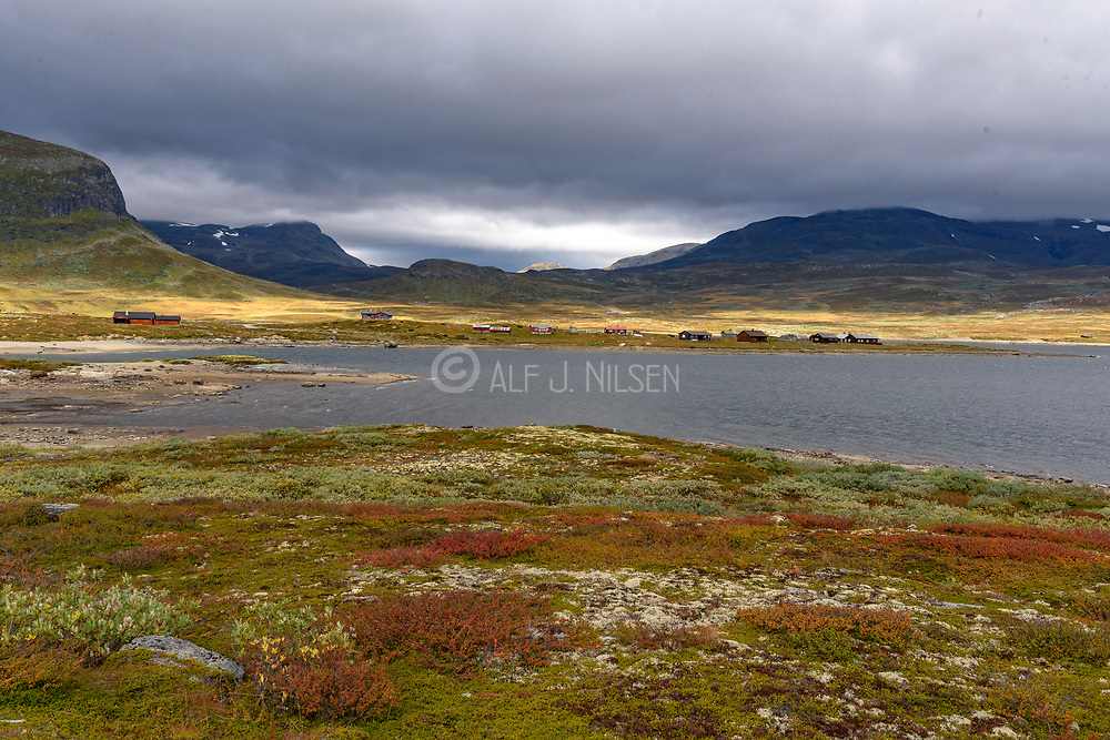 Mountain scenery from Eldrevatnet (Laerdal, Vestland, Norway) in early Autumn.