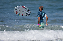 July 31, 2018 - Huntington Beach, California, United States - Huntington Beach, CA - Tuesday July 31, 2018: Jadson Andre in action during a World Surf League (WSL) Qualifying Series (QS) Men's round of 96 heat at the 2018 Vans U.S. Open of Surfing on South side of the Huntington Beach pier. (Credit Image: © Michael Janosz/ISIPhotos via ZUMA Wire)