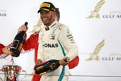April 8, 2018 - Sakhir, Bahrain - Motorsports: FIA Formula One World Championship 2018, Grand Prix of Bahrain,#44 Lewis Hamilton (GBR, Mercedes AMG Petronas F1 Team) (Credit Image: © Hoch Zwei via ZUMA Wire)